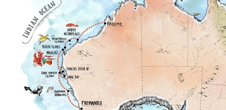 Abrohlos Islands Cruise Map