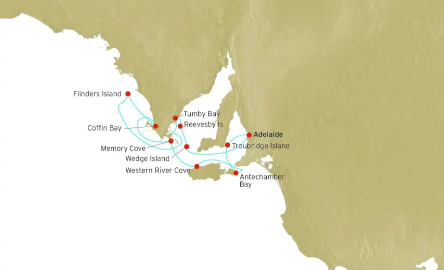 Walks of South Australia Cruise Map